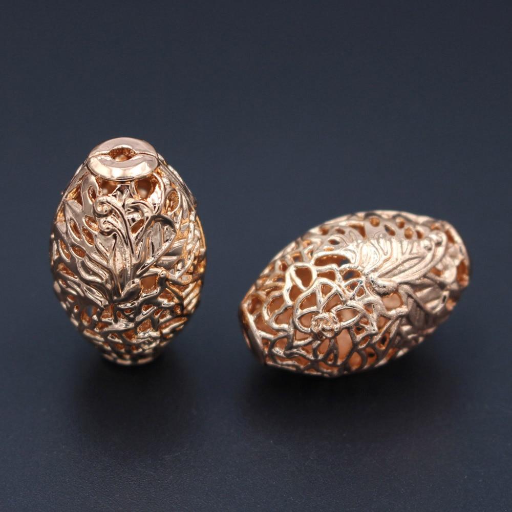 10 قطعة النيجيري دبي الذهب المعادن فاصل الخرز حفرة 2.7 مللي متر الجوف طبل الديكور DIY مجوهرات النتائج للرجال النساء سوار صنع