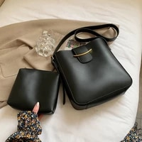 2pcsets women leather handbags large capacity tote bags female sac female leather shoulder bag bucket crossbody bag bolsas new
