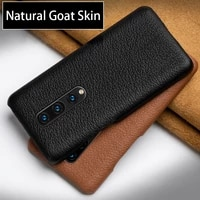 genuine leather phone case for oneplus nord 8 pro 7 pro 7t pro 9 9t 5 5t 3 3t luxury natural goat skin comfortable feel cover