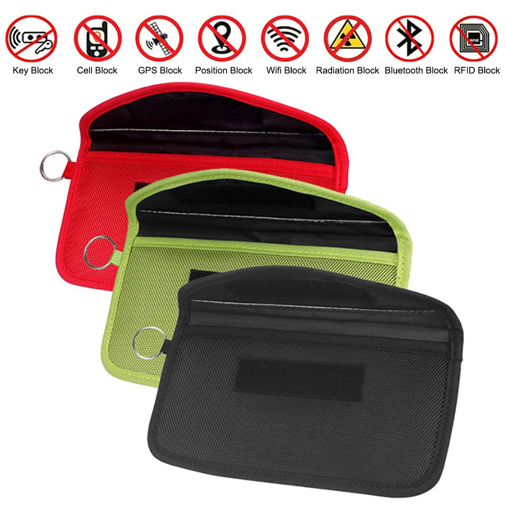 Anti-theft RFID Signal Blocking Bag Signal Blocker Case Faraday Cage Wallet Case For Keyless Car Key