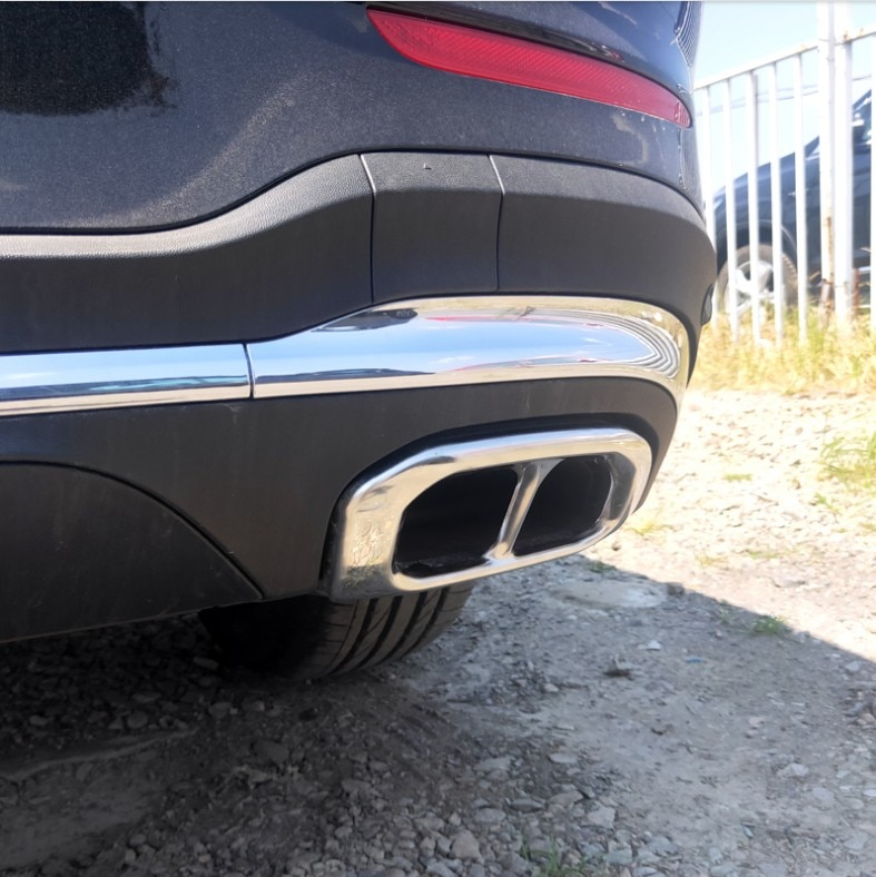 NEW For Mercedes Benz GLE350 GLE450 2020 Muffler Exhaust Pipe Tail Cover Trim Car Accessories enlarge