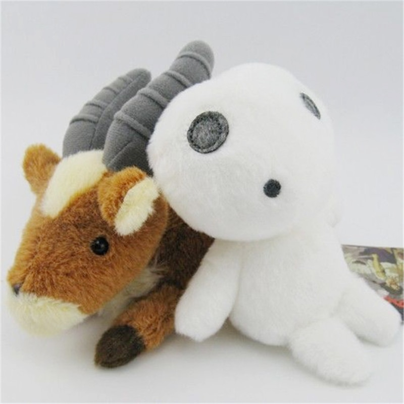 """5 """"12cm lindo Anime princesa Mononoke juguetes de peluche animales de dibujos animados ciervo de peluche Miyazaki Hayao muñeco de peluche suave Kodama árbol Totoro regalo"""