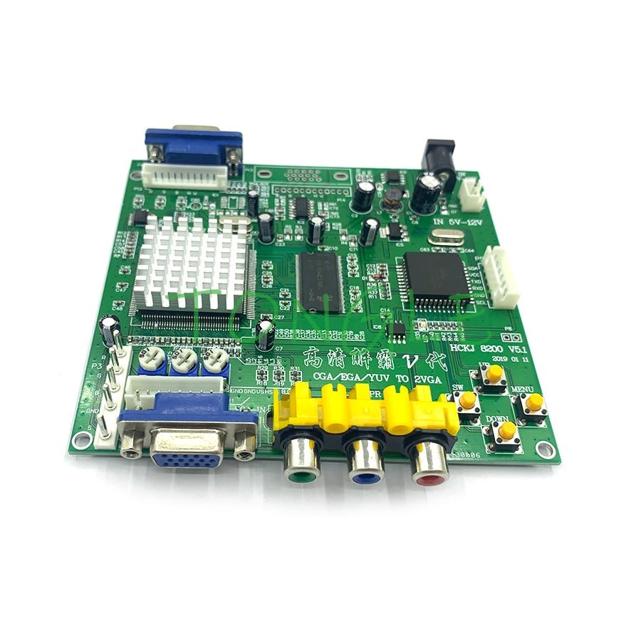 GBS8220 Arcade Game CGA/YUV/EGA/RGB, tablero conversor de vídeo VGA HD (salida Dual), protección sin blindaje