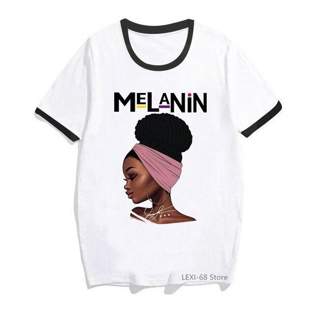Женская футболка с принтом «I Am A Strong melanin Queen», черная футболка с принтом «История месяца», хит продаж 2020