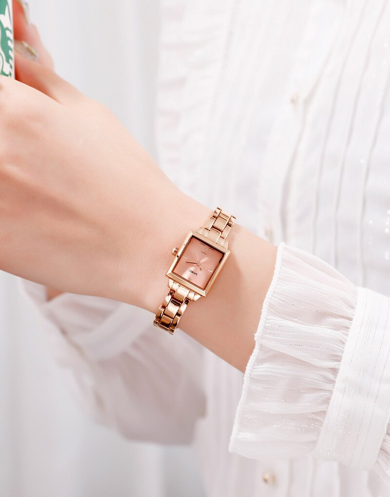 SKMEI Relogio Feminino 1407 Fashion Women Quartz Watches Ladies Female Watch Stainless Steel Strap Wristwatches Montre Femme enlarge
