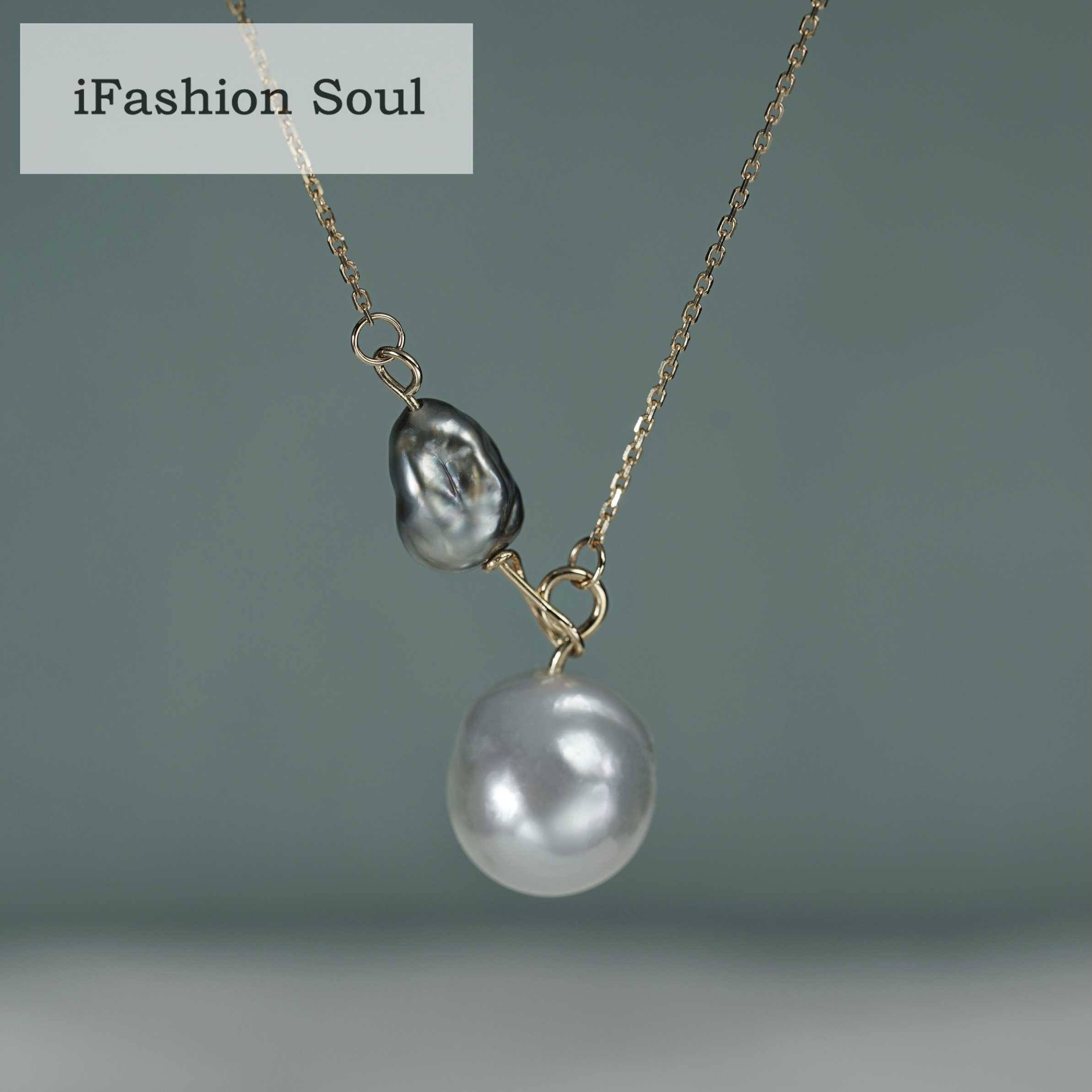18K Solid Yellow Gold Jewelry(AU750) Women Temperament Clavicle Chain Natural South Sea Pearl Baroque Pearl Necklace Fashion