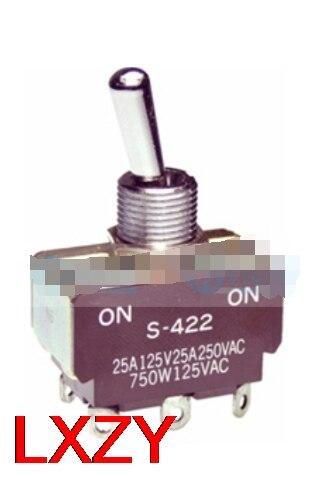 شحن مجاني 2 قطعة/الوحدة S422 S-422 25A250VAC DPDT اثنين عادة مفتوحة تتأرجح التبديل 2 السرعة