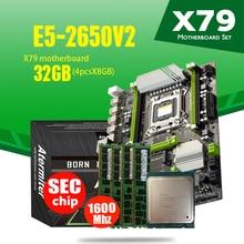 atermiter X79 Turbo motherboard LGA2011 ATX combos E5 2650 V2 CPU 4pcs x 8GB = 32GB DDR3 RAM 1600Mhz PC3 12800 PCI-E NVME M.2