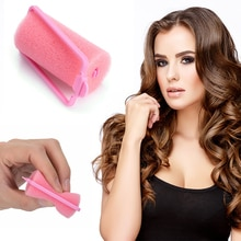 12pcs Pink Soft Sponge Hair Rollers Curler DIY Tools Salon Barber Perm Tools Hair Protection Reduce