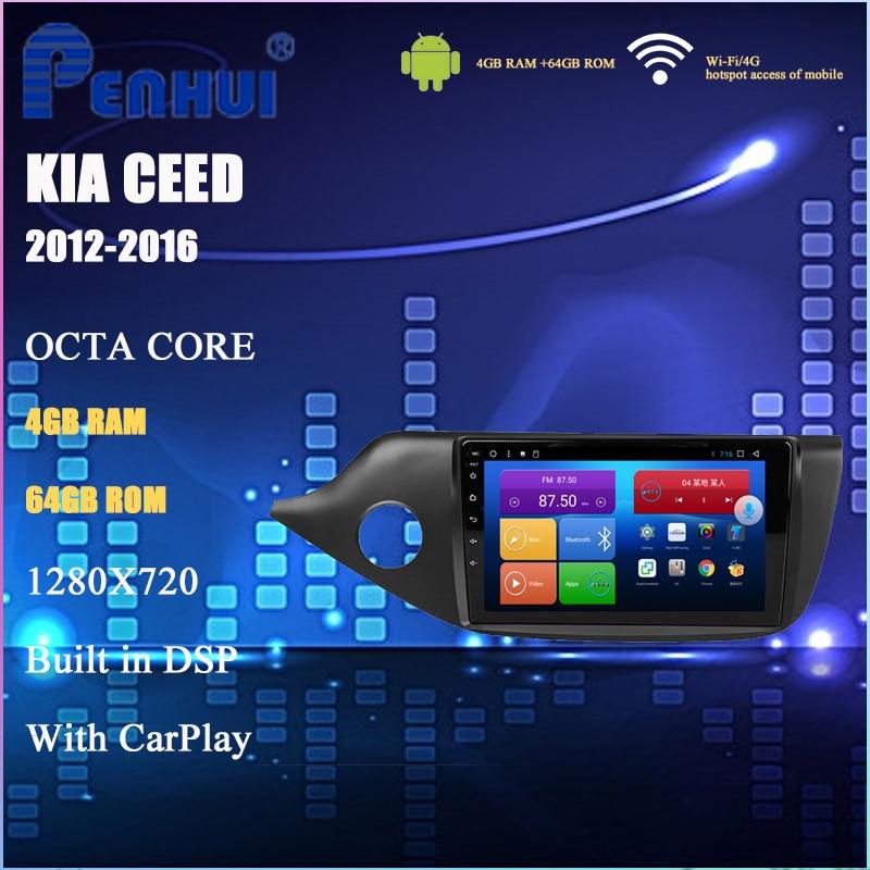 DVD de coche para kia Ceed (2012-2016), de vídeo con reproductor Multimedia Radio para coche, navegación GPS, Android 10,0, doble Din
