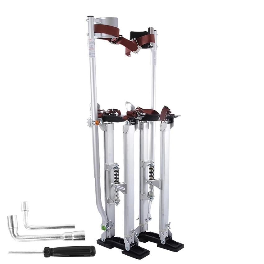 24 to 40 Inch Adjustable Drywall Stilts Aluminum Plastering Stilt Ladder Drywall Plaste Stilts Painters Walking Taping Tools
