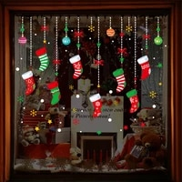 1pcs wall sticker merry christmas gift wall casement stickers decals pvc 4560cm home living room supermarket doors decor
