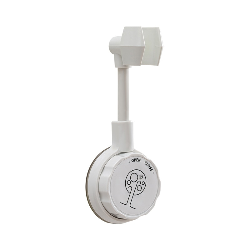 Non perforated shower holder holder holder shower nozzle hanging seat suction cup shower head bathroom shower accessories base # shower support shower accessories water nozzle bathroom free punched silica gel shower sucker fixed base frame