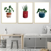 houseplant posters green potted plants print botanical wall art nordic canvas painting modern picture for living room home decor