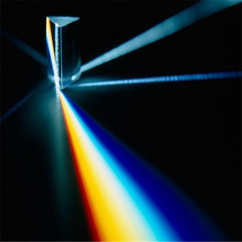 1 unid Triple Prisma óptico física de Cristal Arco Iris foto accesorios boda Souvenirs decoración del hogar Accesorios novedoso regalo para novia