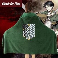anime attack on titan winter blanket totoro nap air conditioning blanket hoodie warm shawl cloak flannel wearable blankets adult