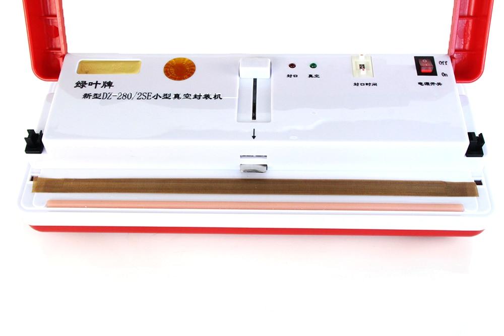Food Vacuum Sealing Machine Can Wet and Dry Fresh Frozen Bakery Packing Sealer Sealing Bags Appliances DZ-280/2SE Piece 150w enlarge