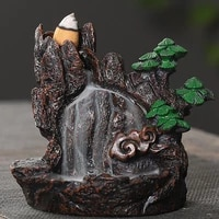 resin mountains rivers incense burners holder censer aromatherapy home decor