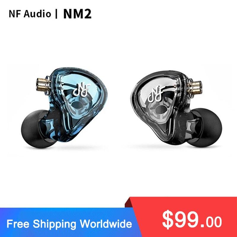 NF Audio NM2 ثنائي التجويف الديناميكي في الأذن رصد سماعة مع Adaper(6.35 إلى 3.5) 2 دبوس 0.78 مللي متر انفصال كابل IEM