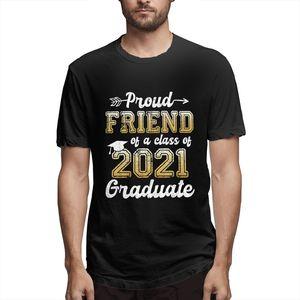 Proud Friend Of A Class Of 2021 Graduate Senior 21 Graphic Tee Men's Short Sleeve T-shirt Funny Summer Tops