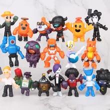 18 pièces/lot bagarre étoiles jeu dessin animé héros figure modèle Spike Shelly Leon PRIMO MORTIS poupée kawaii mignon jouet cadeau pour garçon fille enfants