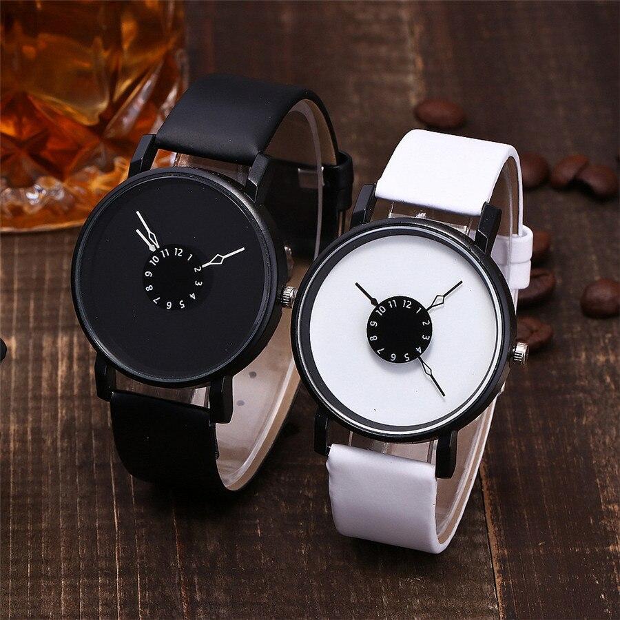 Casuales de las mujeres reloj de cuarzo con pulsera de cuero analógico reloj de pulsera de mujer Casual mujer relojes de cuarzo reloj analógico reloj de pulsera