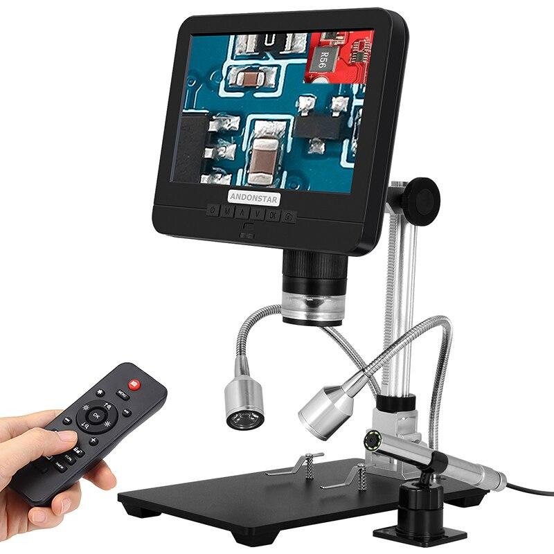 مجهر رقمي من Andonstar ثنائي العدسات بالمنظار الإلكتروني AD206S مجهر رقمي لإصلاح الهاتف أداة لحام SMD/SMT