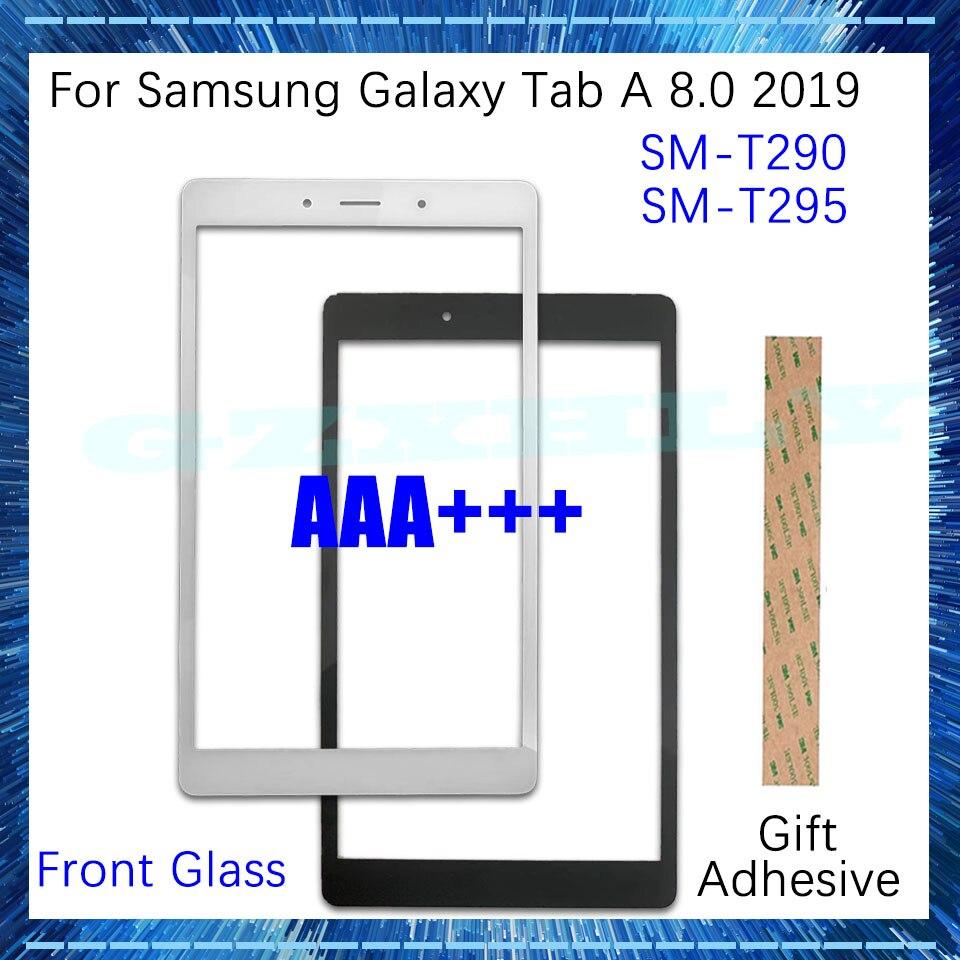 """Novo 8.0 """"vidro frontal (sem toque digitador) display lcd painel exterior da tela para samsung galaxy tab 8.0 2019 t290 t295 substituição"""