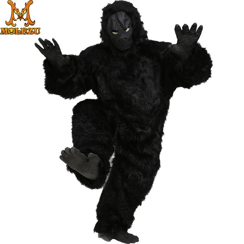 Molezu Halloween Mask prop ape gorilla Costume Party Costume Mask horror Carnival Cosplay party props