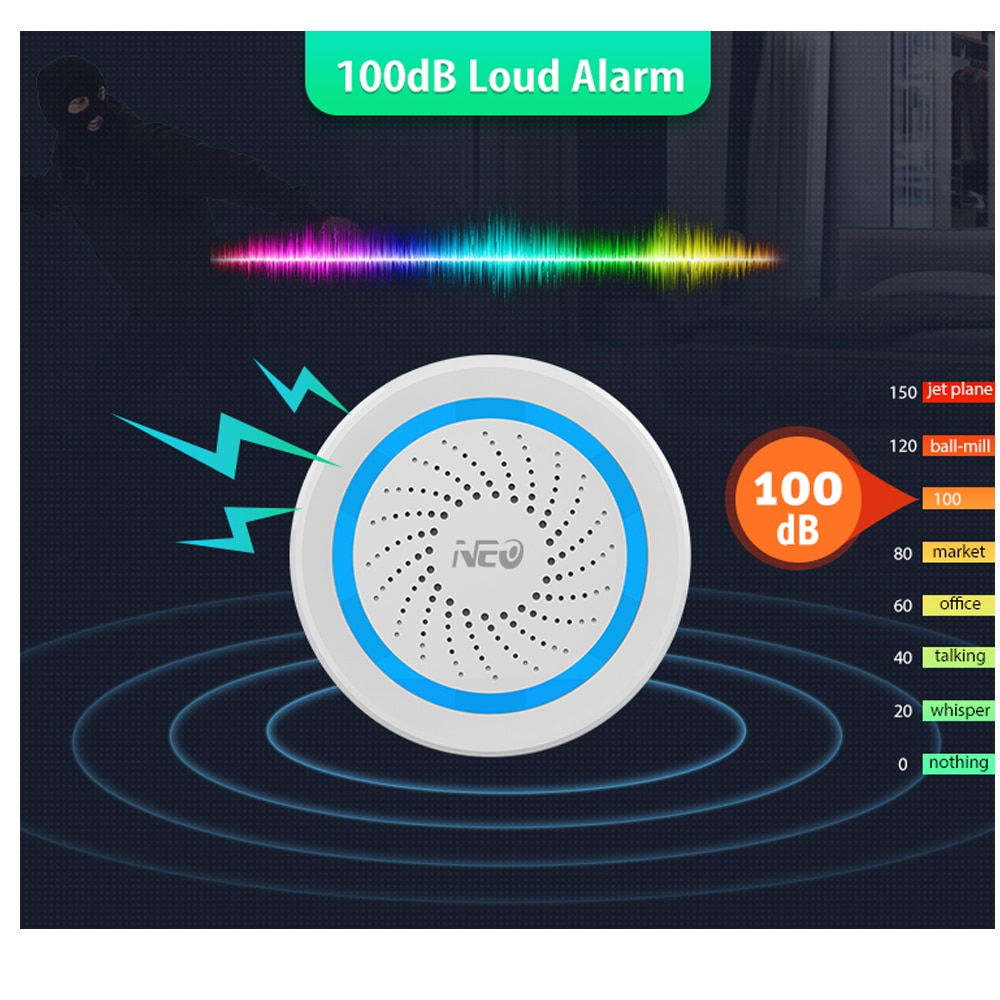 EU Version Zwave Alarm Siren Battery-Powered Also Can Be Charged with USB Siren Alarm Sensor For Z Wave Home Automation enlarge