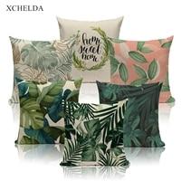 Декоративный зеленый чехол для подушки, декоративный чехол для подушки в скандинавском стиле 45*45 40*40