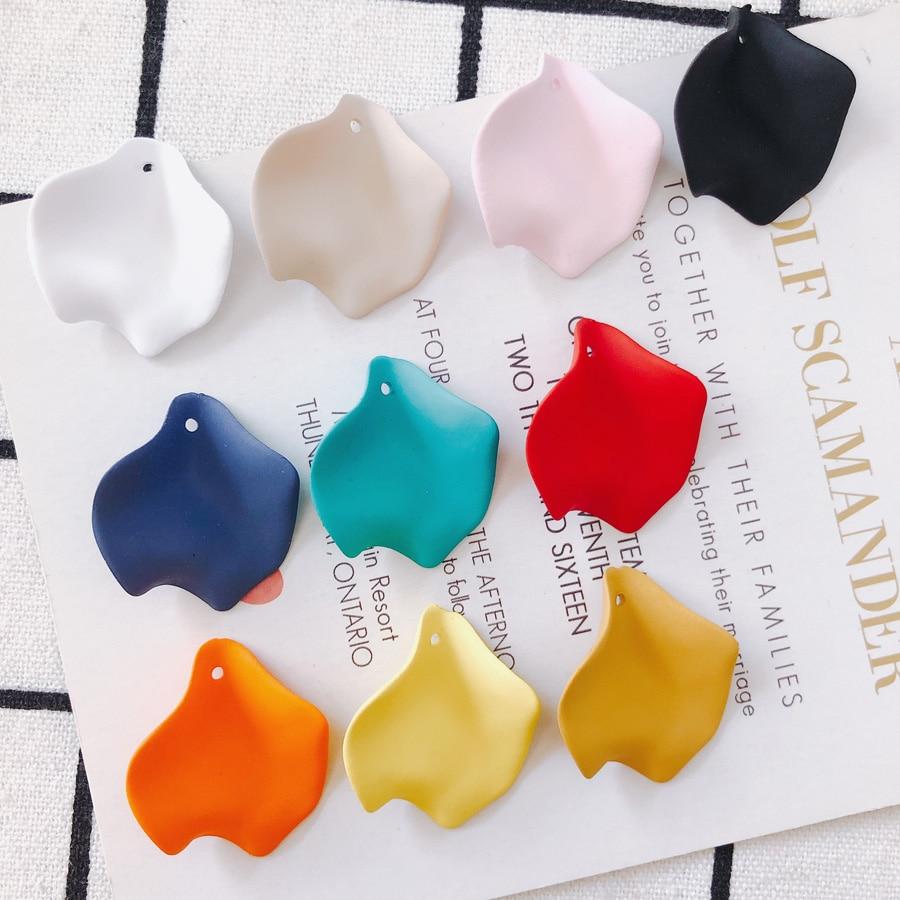 DIY Handmade spring flower earrings material advanced sense petals fashion temperament earrings pendant Accessories