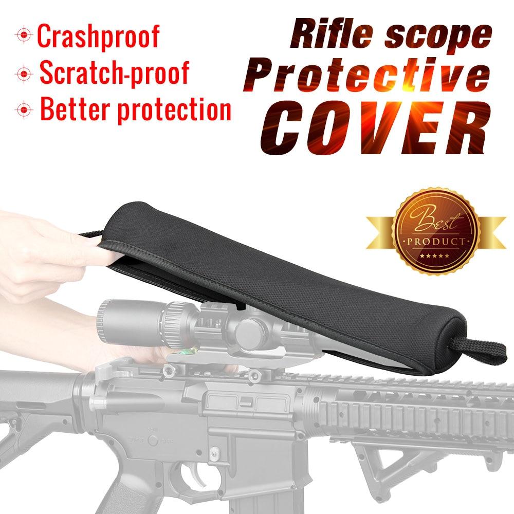 PPT caza Riflescope óptica cubierta militar bolsa de neopreno cubierta del visor Color negro 33x6,5x4,5 cm bolsa de pistola bolsa PP6-0096