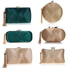 SEKUSA fashion women evening bags tassel ladies clutch purse shoulder chain wedding party handbags b