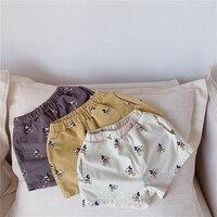 Детские летние хлопковые шорты для девочек и мальчиков, с диснеевским Микки Маусом