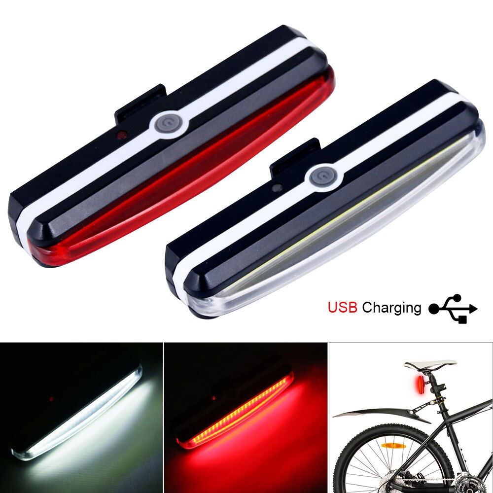 Fiets Licht Oplaadbare Front Bike Staart Achter Light Bright Bike Led Zaklamp Voor Fiets Luz Bicicleta Luces Bicicleta