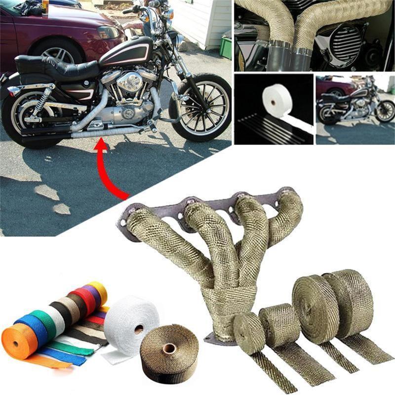 Fita de escape para motocicleta, nova fita de escape automotiva incombustível turbo
