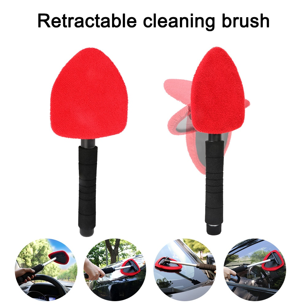 Car Cleaning Brush Windshield Telescopic Window Glass Cleaner Microfiber Window Scraping Car Accessorie автомобильные товары