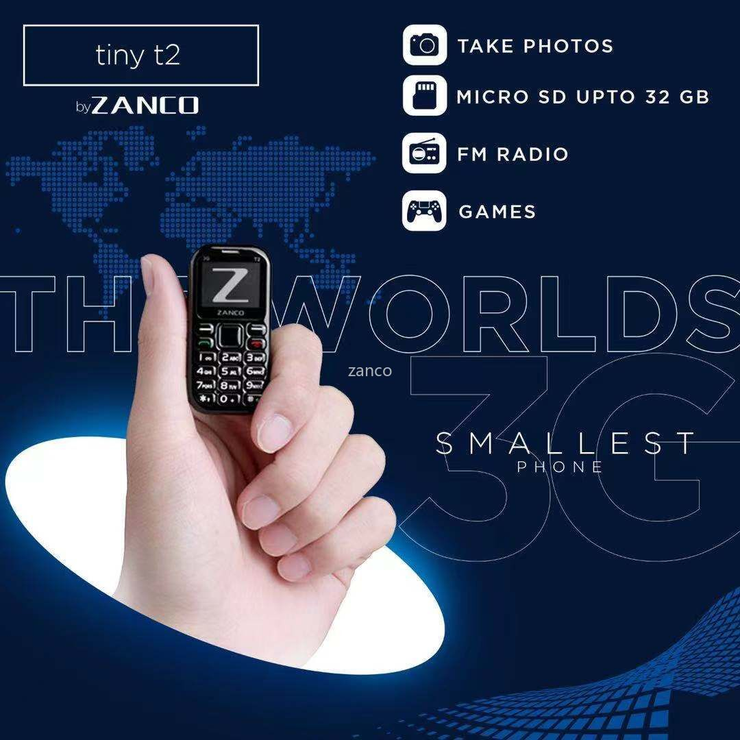 Buy from Manufacturer ZANCO tiny t2 World Smallest Phone 3G WCDMA mini cellular phone mini phone smallest phone pocket phone