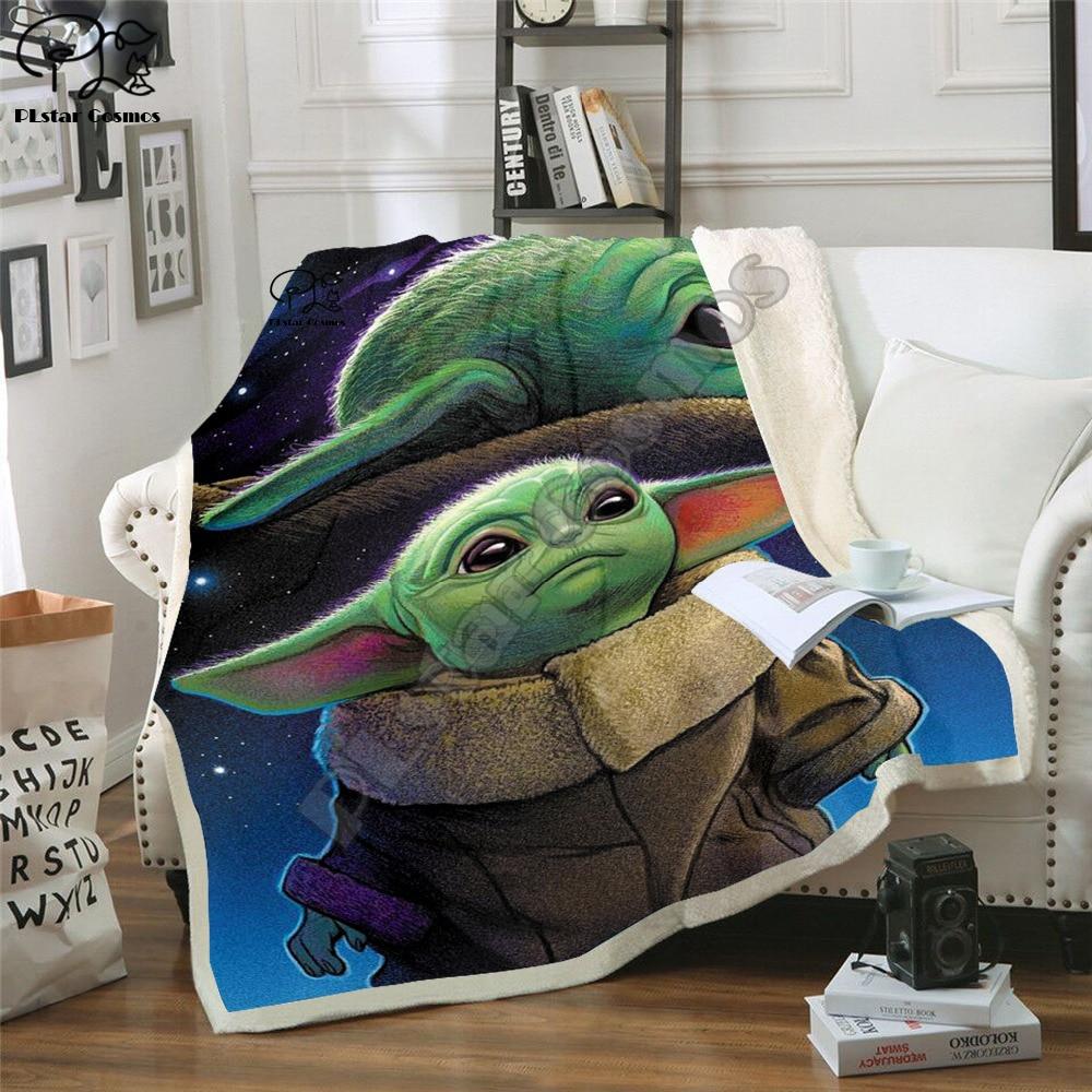 Kids Star Wars Yoda 3D Blanket Fleece Cartoon Anime Galaxy Print Children Warm Bed Throw Blanket newborn baby Blanket style 024