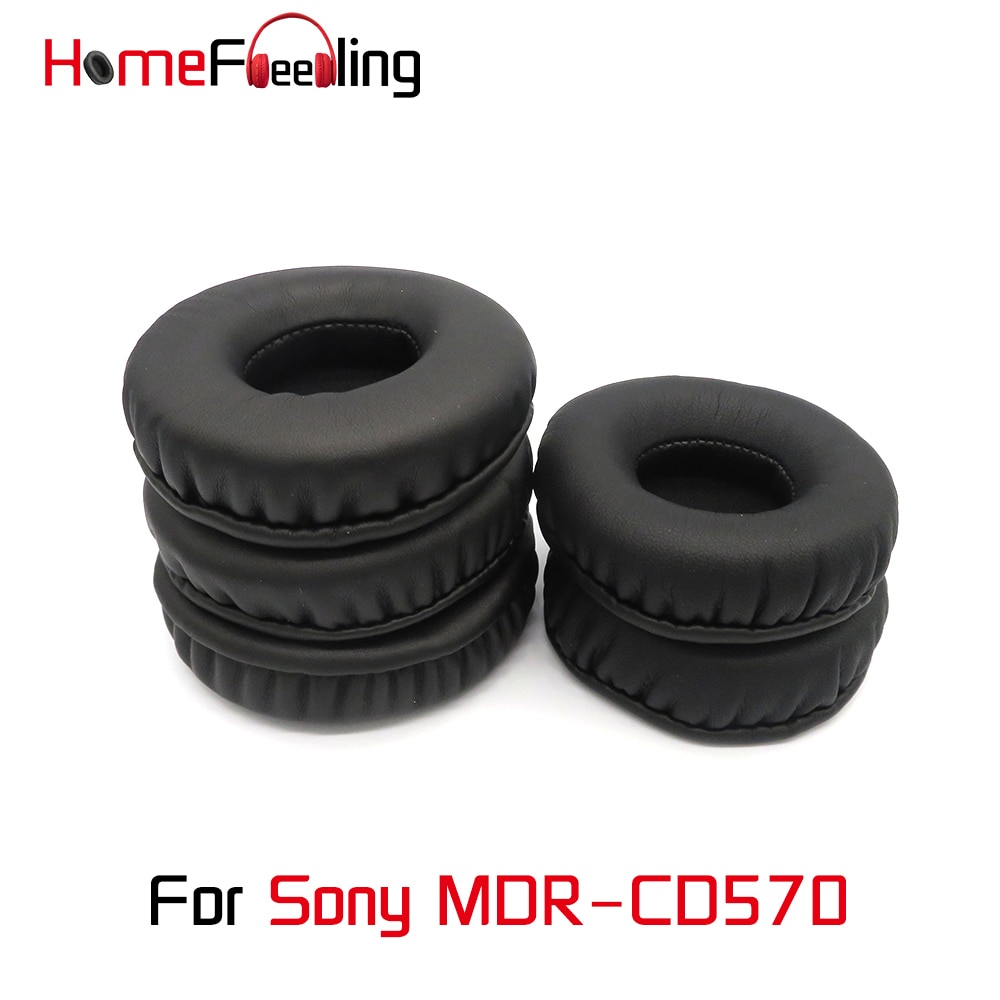 Homefeeling Ear Pads For Sony MDR-CD570 MDR CD570 Earpads Round Universal Leahter Repalcement Parts Ear Cushions homefeeling ear pads for sony mdr hw300k earpads round universal leahter repalcement parts ear cushions