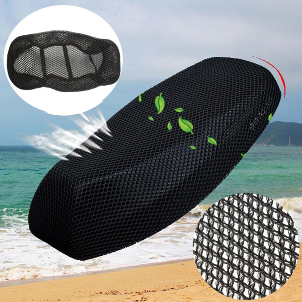 Summer Motorcycle Scooter Electric Bicycle Breathable 3D Mesh Seat Cover Cushion Auto Accessories