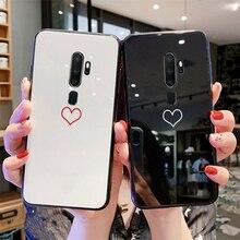 Para Xiaomi Redmi 8 8A Note 8 Pro S2 K20 funda en Blanco Amor corazón duro vidrio suave silicona cubierta para Xiaomi Redmi Note 8 k20 Pro