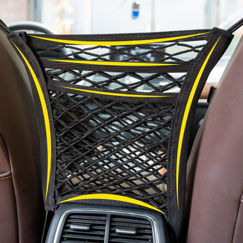 Автомобильная гибкая сетка для хранения, карманная Автомобильная Барьерная сетка, защитная изоляционная сетка, задний карман для стула, по...