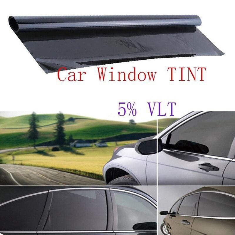 1 rollo ventana 5% VLT película negro tinte profesional sin cortar resistente a los arañazos no reflectante Venta caliente Universal de