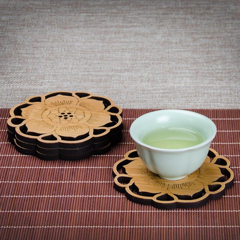 كوستر خشبي على الطراز الصيني ، عتيق ، عزل إبداعي ، دائري ، كوب شاي ، حصيرة ، حراري ، Tazos ، Pokemon ، زخرفة الطاولة ، BF50CO