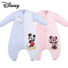 Disney Mickey Minnie Style Newborn Soft Sleeping Bag Autumn and Winter Childrens Sleeping Bag Bed Warm Thick Childrens Pajamas