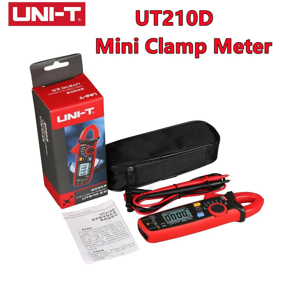 UNI-T UT210D مصغرة المشبك متر NCV صحيح RMS التيار المتناوب/تيار مستمر الجهد الحالي السيارات المدى VFC السعة عدم الاتصال المتعدد