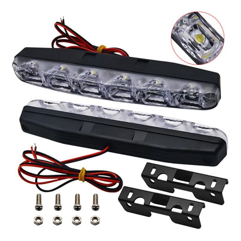 2 pçs dc12v drl luzes diurnas carro-estilo nevoeiro drl luz diurna para acessórios do carro