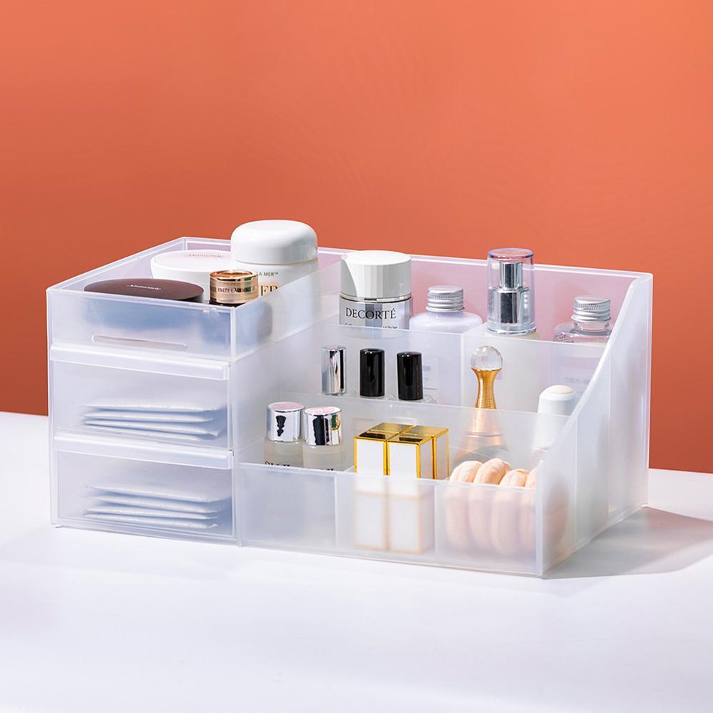 Two Layers Plastic Makeup Organizer Makeup brush sets Lipstick Make up Organizer Box Dressing Table Bathroom Cosmetic Organizer